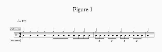 Drumline Marching Percussion Metronome Examples: Fig 1.